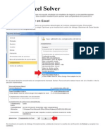 Activar Excel Solver