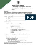 UGC XII Plan College Proforma