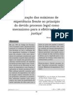A Utilização Das Máximas de Experiência Frente Ao Princípio Do Devido Processo Legal