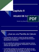 Capitulo II Hojas de Cálculo (1)