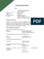 Estructura Informe Psicopedagógico Caro