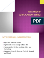 LOreal Application Form