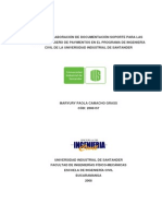 Diseno y Elaboracion de Documentacion Soporte Para Las Clases de Diseno de Paviemntos en El Progama de Ingenieria