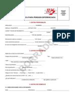 Ficha Socioeconomica Para Pension Diferenciada