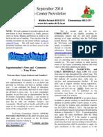 September 2014 School Newsletter