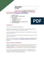 1 Quality Management Requirements