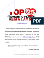 Top 25 Romantic Places Malaysia