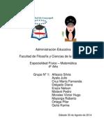Principios de La Administración Educativa