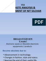 E-waste Analysis & Management of Nit Silchar