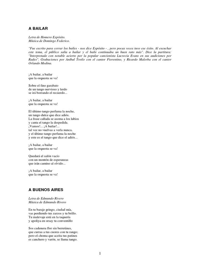 Letras De Tangos