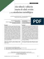 Adaptación Cultural y Validación de Cuestionarios Mexico