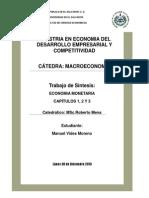 Síntesis Capítulos 1, 2 y 3 Economía Monetaria Godley Wynne y Lavoe M.