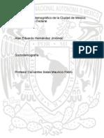 Informe Sociodemográfico de La Ciudad de México