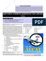 Air Force Common Admission Test (Afcat) 2014