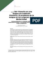M. Pérez Carrasco Escribir Filosofía en Una Lengua Sin Tradición Filosófica
