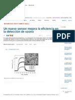 Un Nuevo Sensor Mejora La Eficiencia en La Detección de Ozono _ Noticias _ SINC