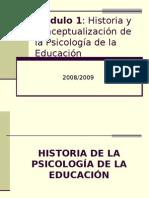 Historia y conceptualización de la Psicología de la Educación