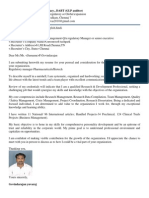 Yuvaraj Regulatory Cv