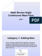 Math Review Class Continuous Mass Flow