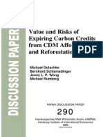 Value and Risks of Expiring Carbon Credits from CDM Afforestation and Reforestation