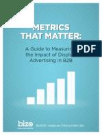 Display Advertising & Buyer's Behavior