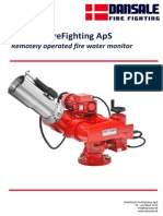 Dansale Fire Water Monitor Electrially Operated