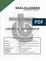 Chemical Equillibrium