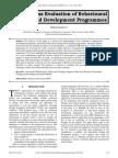 Effectiveness Evaluation of Behavioural Training and Development Programmes