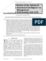 A Critical Review of the Advanced Research on Emotional Intelligence in Management -Based on Relationship with OCB-