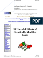 50 Harmful Effects of Genetically Modified Foods by Jonathan Campbell