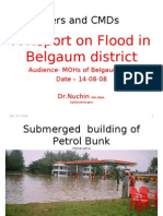 A Report on Flood in Belgaum District-2008