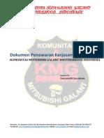 Surat Penawaran Sponsorship Komunitas Mitsubishi Galant Brotherhood Indonesia