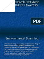 (3)Environmental Scanning and Industry Analysis
