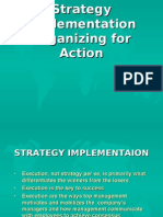 (8) Strategy Implementation, Organizing for Action