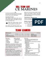 Kill Team List - Space Marines v3.0
