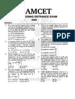 1772EAMCET Engineering Entrance Solved Paper 2000