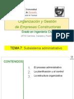 Organizacion y Gestion de Empresas Constructoras