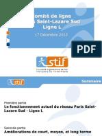 Presentation Du STIF Au Comite de La Ligne L Du 17 Decembre 2013