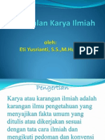 (1) Pengenalan K.ilmiah