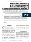 Effect of Environmental Temperature and pH Water on Compressive Strength of Clay Brick Mixed Wood Chips Mahogany based Building Materials