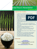 19th September,2014 Daily Global Rice E-Newsletter by Ricceplus Magazine