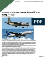 Quelle est la différence entre un Antonov-26 et un Boeing 777-200? - Libération