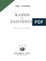 KARL JASPERS _ Razon-y-Existencia