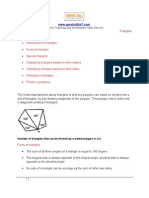 Triangles - Geoemetry Worksheet - SAT Reasoning Test