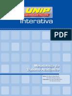 Metodologia Do Trabalho Acadêmico - UNIDADE I - UNIP