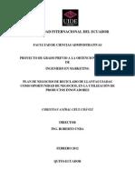 Plan de Negocios de Reciclado de Llantas Usadas Como Oportunidad de Negocios, En La Utilización de Productos Innovadores