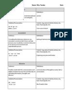 vocabulary frontier worksheet week1
