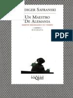 SAFRANSKI _ Un Maestro en Alemania Martin Heidegger