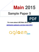JEE Main Sample Paper (5)