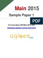 JEE Main Sample Paper (1)